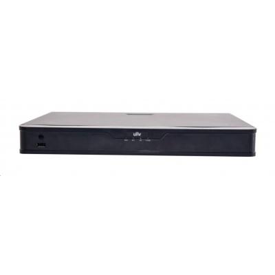 Uniview NVR, 16 PoE (Max 240W) kanálů, H.265, 2x HDD, 12Mpix (160Mbps/320Mbps), HDMI, VGA, 1x USB 2.0, 1x USB 3.0, audio
