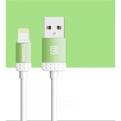 REMAX datový kabel 1m dlouhý , řada Lovely iPhon 5/6, barva zelený