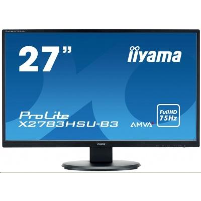 Iiyama monitor ProLite X2783HSU, 68,6 cm (27''), Full HD, VGA, HDMI, USB, black