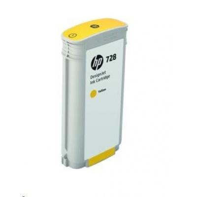 HP 728 130-ml Yellow DesignJet Ink Cartridge
