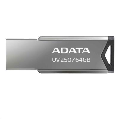 ADATA Flash Disk 64GB UV250, USB 2.0 Dash Drive, stříbrná
