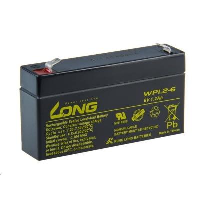 Long 6V 1,2Ah olověný akumulátor F1