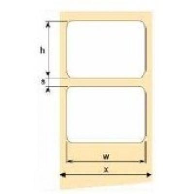 OEM samolepící etikety 50mm x 25mm, bílý papír, cena za 3000 ks