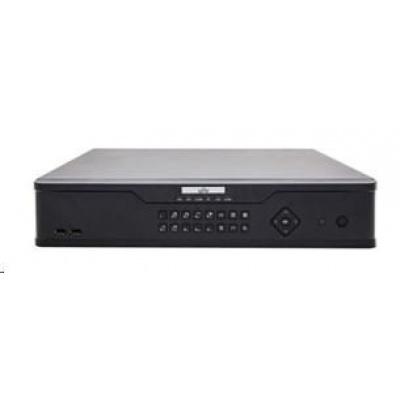 Uniview NVR, 16 kanálů (16xPoE max.200W), H.265,4xHDD, 12Mpix (160/320Mbps),HDMI 8Mpix + 1*HDMI+VGA Full HD, 3xUSB,audio
