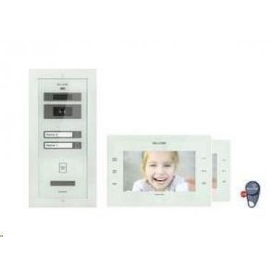 CONRAD Kabelový domovní video telefon Bellcome, KIT.VPA.2FR02.BLW, 2 rodiny, bílá, kompletní sada