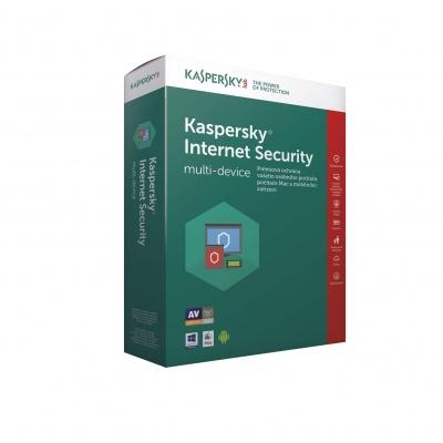 Kaspersky Internet Security 2019 CZ multi-device, 2 zařízení, 2 roky, obnovení licence, elektronicky