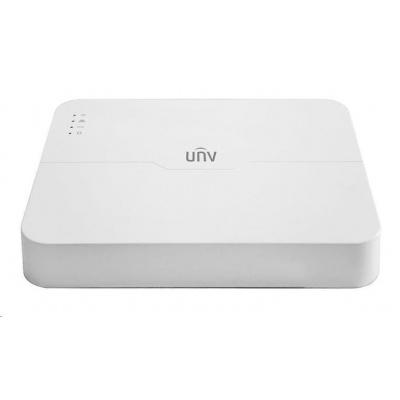 Uniview NVR, 16 kanálů (8x PoE max 108W), H.265, 1x HDD, 8Mpix (60Mbps/80Mbps), HDMI, VGA, 2x USB 2.0, audio