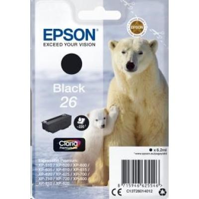 "EPSON ink čer Singlepack ""Lední medvěd"" Black 26 Claria Premium Ink"