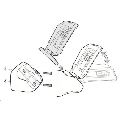 Motorola/Zebra stojánek na zed pro DS9208 black