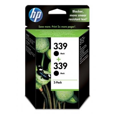 HP 339 Black Ink Cart 2-pack, 2 x 21 ml, C9504EE