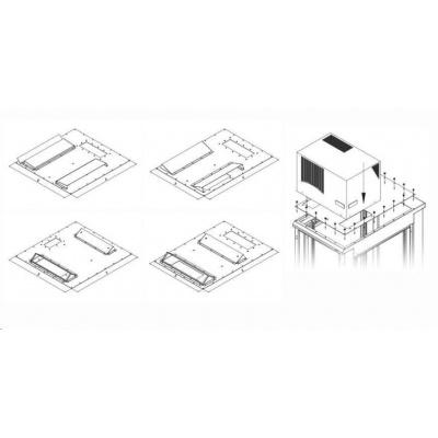TRITON montážní redukce ke klimatizaci X1 a X2 na šířku rozvaděče 800 x 800 mm, šedá