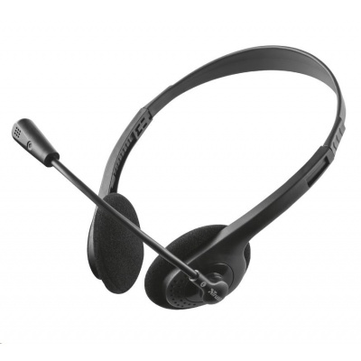 TRUST Sluchátka Ziva Chat Headset, 4pin, 3,5mm, bez redukce na 2x 3,5mm jacky