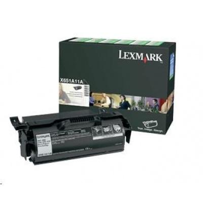 LEXMARK černý toner pro X651, X652, X654, X656, X658, (7 000 stran)