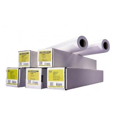 HP Bright White Inkjet Paper-841 mm x 45.7 m (33.11 in x 150 ft),  4.8 mil,  90 g/m2, Q1444A