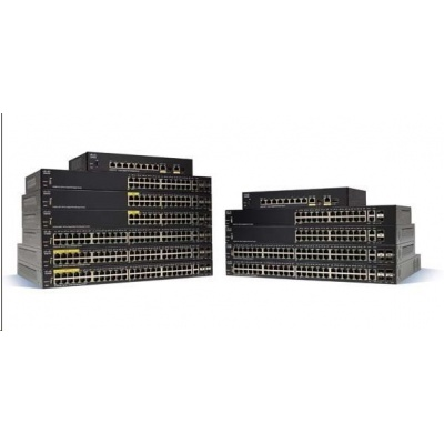 Cisco switch SF350-48-RF, 48x10/100, 2xSFP, 2xGbE SFP/RJ-45, REFRESH