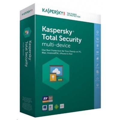 Kaspersky Total Security 2019 CZ multi-device, 1 zařízení, 2 roky, nová licence, elektronicky
