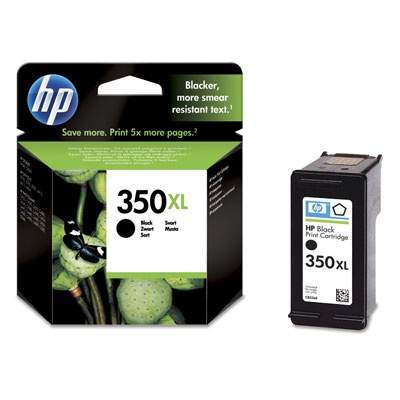 HP 350XL Black Ink Cart, 25 ml, CB336EE