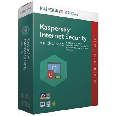 Kaspersky Internet Security 2019 CZ multi-device, 3 zařízení, 2 roky, nová licence, elektronicky