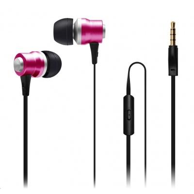 CONNECT IT Alu Sonics sluchátka do uší EP-225-PK s mikrofonem, růžová