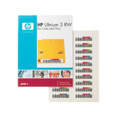 HP LTO-3 Ultrium Bar RW Code Label Pack, Q2007A