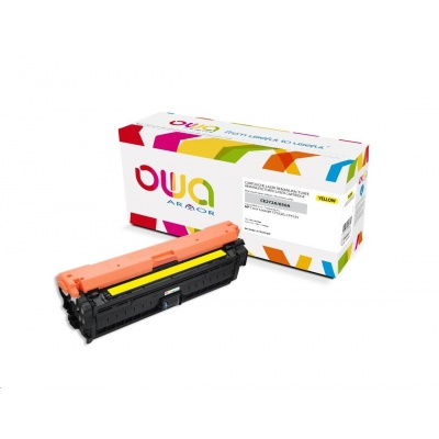 OWA Armor toner pro HP Color Laserjet Ese CP5520, 5525, 15000 Stran, CE272A, žlutá/yellow