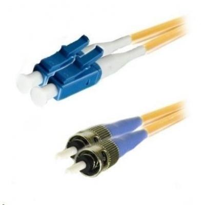 Duplexní patch kabel SM 9/125, OS2, LC-ST, LS0H, 10m
