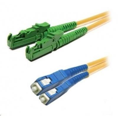 Duplexní patch kabel SM 9/125, OS2, E2000(APC)-SC(PC), LS0H, 2m