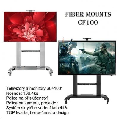 """Špičkový výškově stavitelný stojan na největší televizory 60"""" až 100"""", Fiber Mounts CF100 -  držák"""