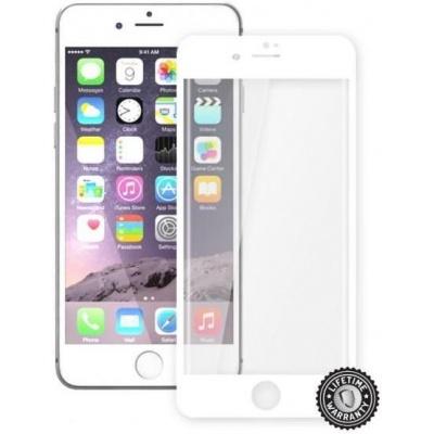 ScreenShield ochrana displeje Tempered Glass pro Apple iPhone 7 Plus, bílá (kovový okraj)