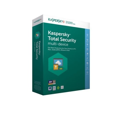 Kaspersky Total Security 2019 CZ multi-device, 3 zařízení, 2 roky, nová licence, elektronicky