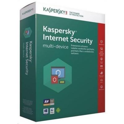 Kaspersky Internet Security 2019 CZ multi-device, 5 zařízení, 1 rok, obnovení licence, elektronicky