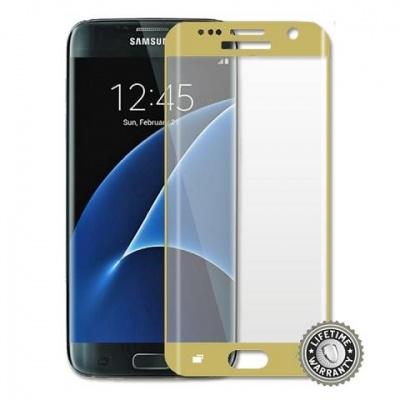 ScreenShield ochrana displeje Tempered Glass pro Galaxy G935 Galaxy S7 Edge, zlatá
