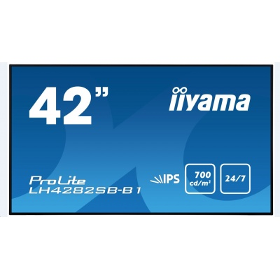 Iiyama monitor ProLite LH4282SB, 106.7 cm (42''), IPS, HDMI, black
