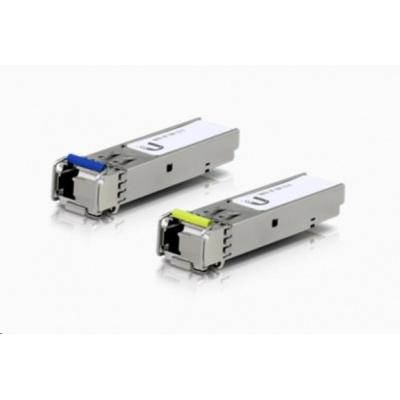UBNT U Fiber UF-SM-1G-S, 2-PACK [2ks (1 pár) SFP 1G WDM modulů, Single-Mode, BiDi, LC konektor]