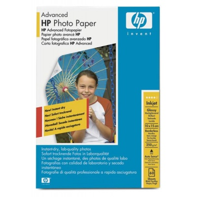 HP Advanced Glossy Photo Paper-60 sht/10 x 15 cm borderless, 250 g/m2, Q8008A