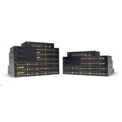 Cisco switch SF350-24, 24x10/100, 2xGbE SFP/RJ-45, 2xSFP