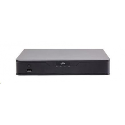 Uniview NVR, 4 kanály, H.265, 1x HDD, 8Mpix (40Mbps/48Mbps), HDMI, VGA, 3x USB 2.0, audio