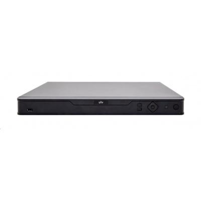 Uniview NVR, 16 kanálů, H.265, 4x HDD, 12Mpix (160Mbps/320Mbps), HDMI 8Mpix + HDMI+VGA Full HD, 3xUSB, audio