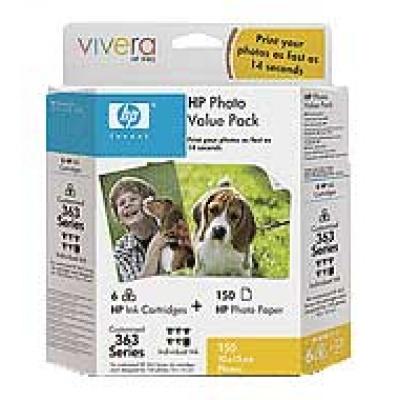 HP 363 Series Photo Value Pack-150 sht/10 x 15, 240 g/m2, Q7966EE