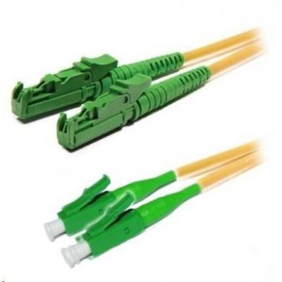 Duplexní patch kabel SM 9/125, OS2, E2000(APC)-LC(APC), LS0H, 2m