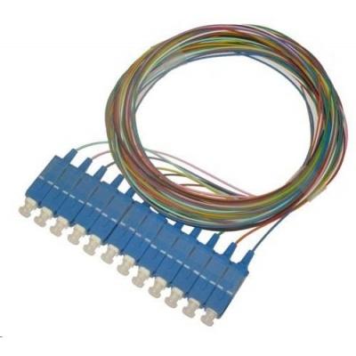 Pigtail SM 9/125, OS2, konektor SC, LS0H, 1m - sada 12 ks