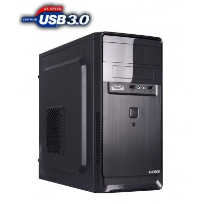 1stCOOL skříň STEP 2, micro ATX, AU, 2x USB 3.0, bez zdroje, Black