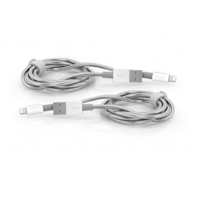 VERBATIM kabel Lightning Cable Sync & Charge 100cm (Silver) + Verbatim Lightning Cable Sync & Charge 100cm (Silver)