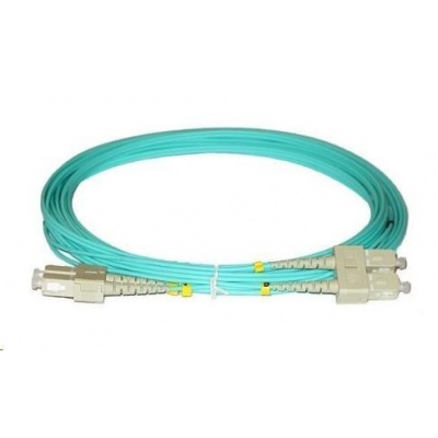Duplexní patch kabel MM 50/125, OM3, SC-SC, LS0H, 3m