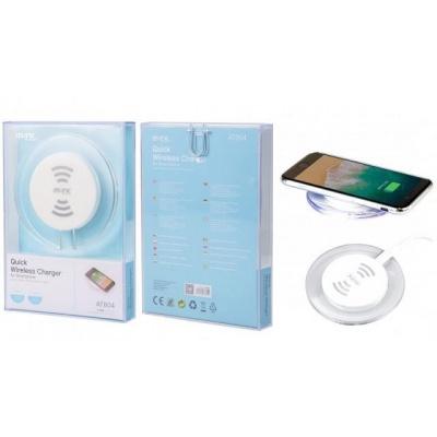 PLUS bezdrátová nabíječka AT804, Quick Charger 2A, bílá