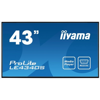 Iiyama monitor ProLite LE4340S-B1, 109,2 cm (43''), Full HD, AMVA,USB,RJ45, RS232, black
