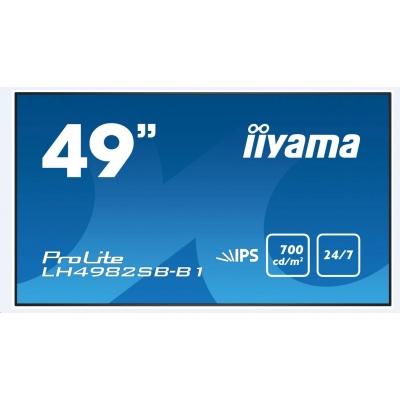Iiyama monitor ProLite LH4982SB-B1, 123 cm (48.5''), HDMI, black