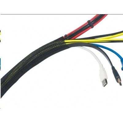 AKASA kabelový organizér, černý, Black Braided Cable Sleeve Wrap, 2M