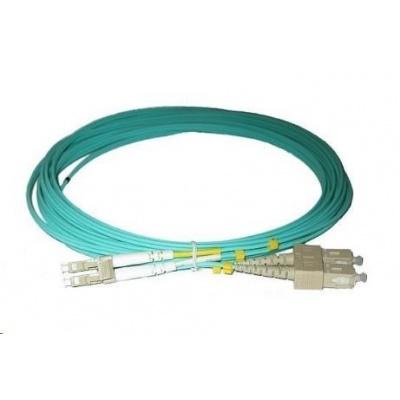 Duplexní patch kabel MM 50/125, OM3, LC-SC, LS0H, 10m