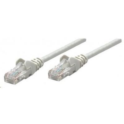 Intellinet patch kabel, Cat5e Certified, CU, UTP, PVC, RJ45, 7.5m, šedý